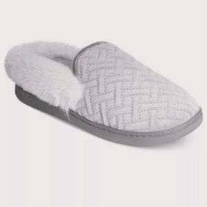 NWT Charter Club MicroVelour Clog Slippers Grey S
